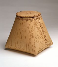 Birch bark basket by Maine-based Passamaquoddy birch bark artist David Moses…