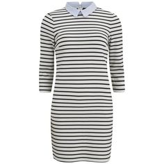 VILA Women's Tins Collar Mini Dress - Snow White