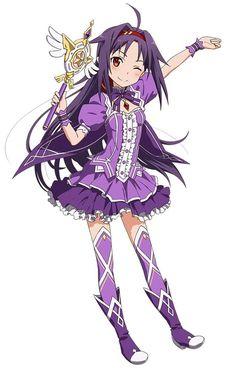 Симпатичная ведьма Online Anime, Online Art, Game Character, Character Design, Sword Art Online Yuuki, Anime Base, Best Waifu, Kirito, Magical Girl