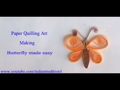 Making butterfly by using quilling paper ...