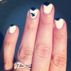 Sparrow nail art
