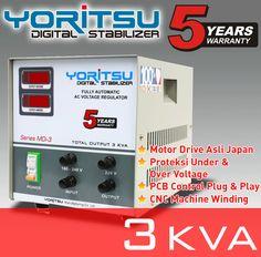 Stabilizer Yoritsu MDi-3 kapasitas 3 KVA.  http:// hexta.co.id, email : sales@hexta.co.id, Telp : (021) 2925-5900, 2925-5905 (Huntings)