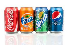 kragujevac serbia - january 27 coca-cola fanta and sprite cans with pepsi can on white background. four cans represent the world's most popular soda drinks. Pepsi, Pop Drink, Fanta Can, Calories, Vegan Recipes, Vegan Food, Canning, Hogwarts, Vegan Friendly