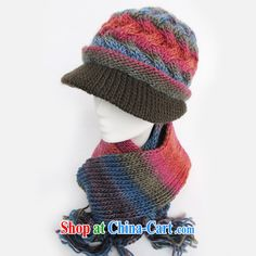 old hat scarf two kits in winter, Ms. wool hats, old hat MOM cap hat, older girls hat girls fall and winter cap 7 color are code
