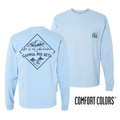 Gamma Phi Beta Crimson Comfort Colors Long Sleeve Tee Shirt