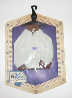 Vintage Barbie Ken Pak Windbreaker Mint Condition in Package NRFP