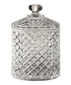 Muirfield Crystal Covered Jar by Jay Import #zulily #zulilyfinds