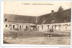 28 - BONNEVAL Intérieur D´une Ferme De Beauce Animée écrite Timbrée