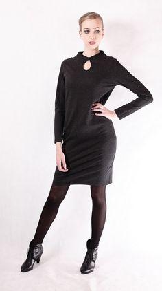 Knielange Kleider - NARA ® Elegantes Winterkleid  - ein Designerstück von Berlinerfashion bei DaWanda