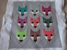 Leslie made this adorable Fancy Fox quilt. Pattern is by Elizabeth Hartman of Oh Fransson and the fabrics are Acacia by Tula Pink. Longarm Quilting, Free Motion Quilting, Machine Quilting, Scrappy Quilts, Baby Quilts, Heart Quilts, Kid Quilts, Elizabeth Hartman Quilts, Fox Quilt