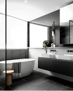 """226 Likes, 7 Comments - Dot➕Pop Interiors - Eve Gunson (@dotandpop) on Instagram: """"SO GOOD • this is my type of bathroom, sleek and sexy! @designstuff_group you are on my wave…"""""""
