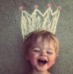 Great idea for photos. Draw hats of all kinds with chalk and take pics like you are wearing them
