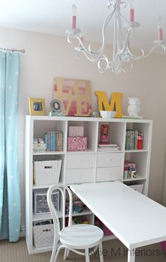 My Little Girls Bedroom - Fun and Functional with Ikea! Partner Post to Cassie's Bedroom  I would like to introduce you all to Maggie, my 7 year old daughter.  You think I'M spunky?  Wait until you meet this little spark-plug!  And yes, those are 3D glasses without the lenses.  She put them on about 2 1/2 years ago and hasn't put them down since (she can't see a wink without them!) So, like mother like daughter, Maggie wanted a new paint colour in her bedroom and where there's…
