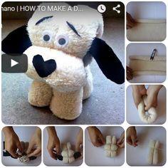 Come fare pupazzo a forma di cane con gli asciugamani. Video Tutorial in italiano