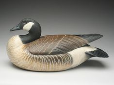 Decorative Canada goose in content pose, Ward Brothers, Crisfield, Maryland.