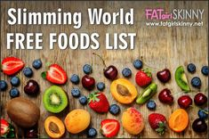 Slimming World Free Food List - Food and Drinks - Healthy recipes Slimming World Speed Food, Slimming World Recipes Syn Free, Slimming World Plan, Slimming World Free List, Syn Free Food, Low Calorie Drinks, Healthy Snacks, Healthy Recipes, Vegetarian Recipes