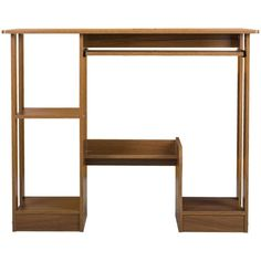 Rozelle Office Computer Desk with Shelves in Walnut   Buy New Arrivals