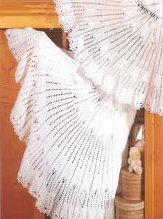 Beautiful shawls to crochet for a darling baby. Circular shawl worked in either 2 ply or 3 ply yarn depending on your preference. 3 ply - size 56 ins 2 ply - size 50 ins Will make lovely heirloom to cherish through the years. Crochet Baby Shawl, Baby Girl Crochet Blanket, Crochet Blanket Patterns, Baby Knitting Patterns, Baby Patterns, Crochet Blankets, Crochet Wraps, Crochet Bunny, Easy Crochet
