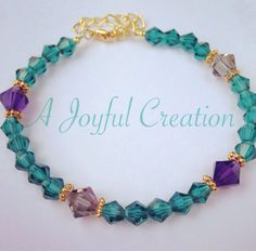 Beautiful Teal Glass Swarovski Crystal by AJoyfulCreation1 on Etsy