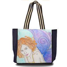Violeta, maxibag da coleção Fantasias, produzida a partir das aquarelas de Aline Pascholati. O objetivo da artista é mostrar o lado mágico da vida, a partir de personagens enigmáticos e imagens bem coloridas.