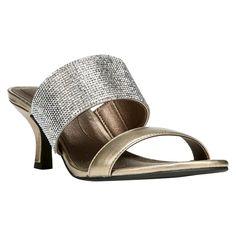 Women's LifeStride Flashy Glitter Strap Heeled Sandals -