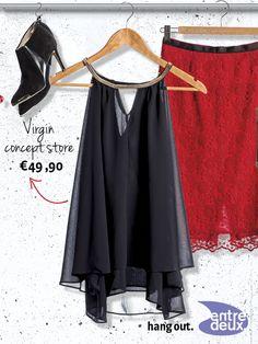 Mooie top van soepel vallende stof. Virgin Concept Store € 49,90