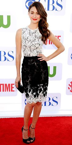 Emmy Rossum's Zuhair Murad dress is polished perfection.