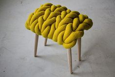 Claire Anne O'Brien - knitted stool | XL knits, home knits, knit design, stool design
