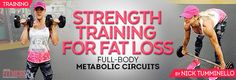 Strength Training for Fat Loss - full body metabolic circuits