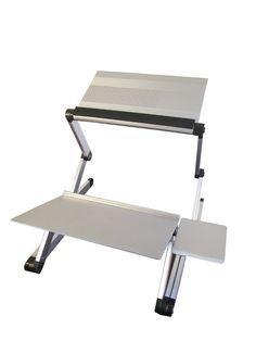 Amazon.com : Workez Standing Desk Adjustable Sit Stand Desk for Laptops & Desktops (BLACK) : Notebook Computer Stands : Office Products