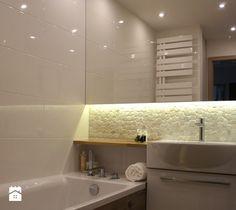 ŁAZIENKA W BLOKU Z WIELKIEJ PŁYTY PŁOCK - Średnia łazienka w bloku bez okna, styl nowoczesny - zdjęcie od abostudio