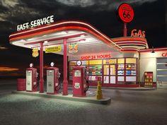 vintage petrol station old gas pumps Old Gas Pumps, Vintage Gas Pumps, Drive In, Route 66, American Gas, Pompe A Essence, Old Garage, Modernisme, Streamline Moderne