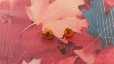 Boucles d'oreille courge/citrouille pâte fimo, fait main, création originale et artisanale : Boucles d'oreille par s-et-s-creations
