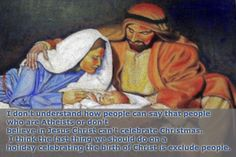 Not to mention, I highly doubt Jesus would want people to be excluded either.