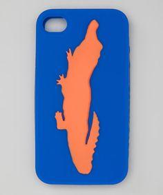 Royal Blue & Orange Gator Case for iPhone 4/4S