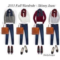 """Fall Wardrobe - Skinny Jeans"" by bluehydrangea on Polyvore"