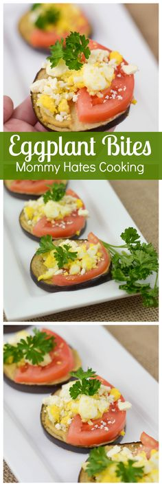 Eggplant Bites #GreatDay #ad: A Great Appetizer/Snack idea! Healthy and Delicious... Mommy Hates Cooking