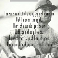 Sam Hunt ~ Break Up In A Small Town