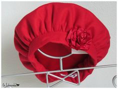 Warm Girls wool Red Hat with Satin flower by OsEstorninhos on Etsy