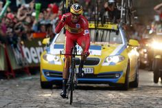 #Contador to target #GirodItalia in 2015! #AlbertoContador #TinkoffSaxo crossing the line to wrap up the 2014 #Vuelta!
