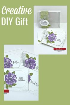 Need a creative DIY gift she'll love? This easy-to-make handmade gift keeps you on budget too. A great set of all occasion cards. Perfect as gift idea for teachers, neighbors, friends, and those last minute gifts you like to keep on hand. Check out the tutorial at www.lisasstampstudio.com #diygiftidea #creativegiftideas #teachergifts #handmadechristmasgifts #diygiftsforher #lisacurcio #lisasstampstudio #stampinupgifts