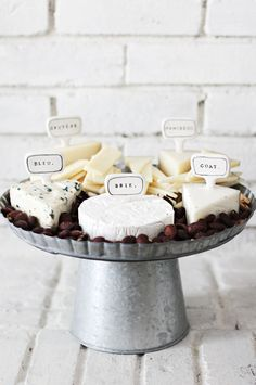 Cake stand/ cheese markers