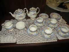 ROYAL ALBERT CHINA TEA AND COFFEE SET in Pottery & Glass, Pottery & China, China & Dinnerware, Royal Albert | eBay