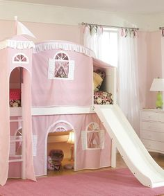 GAH! Sooo cool! 2-story castle with a slide!