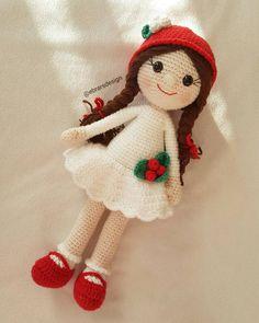 Günaydın ❤ Inspiration only Knitted Dolls, Crochet Dolls, Crochet Patterns Amigurumi, Amigurumi Doll, Sewing Patterns Free, Free Sewing, Free Pattern, Cute Crochet, Crochet Baby