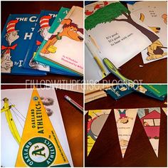 dr seuss banner from book pages