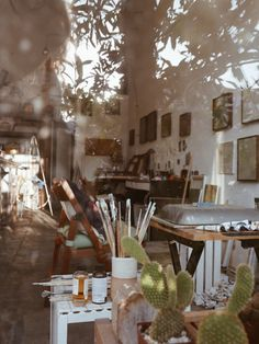 Eclectic Home Office Inspiration · Workspace Design · Creative Studio · Artist Desk Dream Studio, Home Studio, Sweet Home, Office Inspiration, Minimalism Living, Interior Exterior, Interior Design, Studio Interior, Atelier D Art