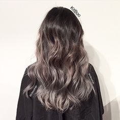 Natural hair colour to light ash brown to grey balayage  @kitboohair