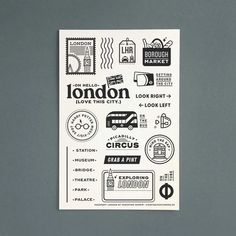 """(1) """"Passport: London"""" - 4x6 Clear Stamp Set by Christine Herrin – Everyday Explorers Co. London Look, Clear Stamps, Project Life, Passport, Bullet Journal, Scrapbook, Projects, Travel, Album"""