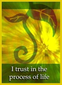 Positive Affirmation - Allow the Process to unfold.
